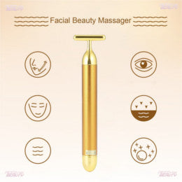 Facial beauty massager 24K gold T bar cheapest