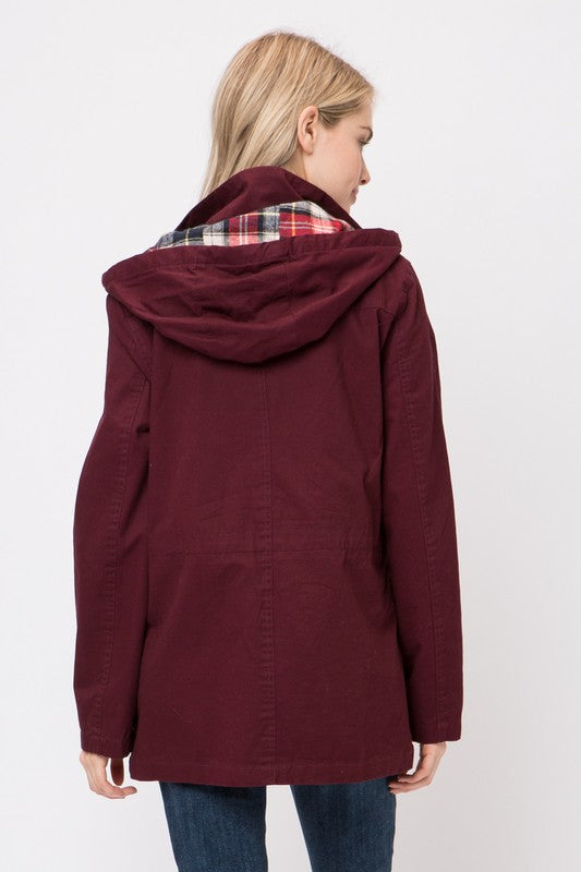 Love Anorak Jacket - Burgundy
