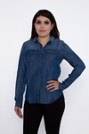 Denim Blouse - Medium Wash