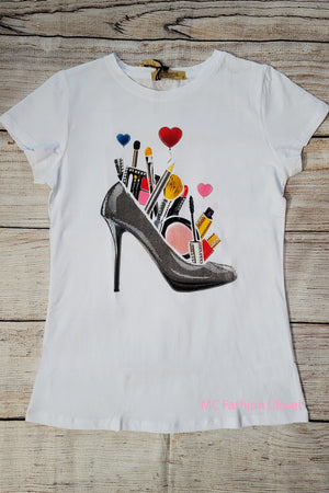 Makeup Love White | Vinizbena Shirt