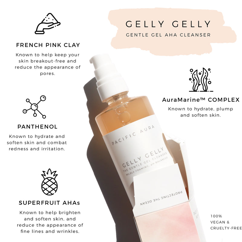 GELLY GELLY- Gentle AHA Gel Cleanser: pH Balanced active ingredients
