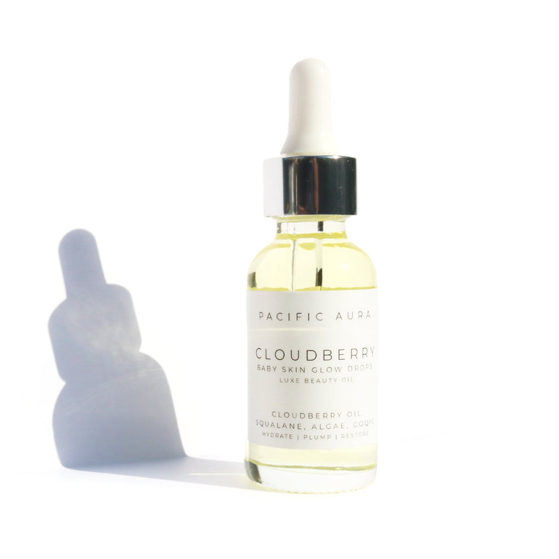 Squalane Facial Oil: Cloudberry, CoQ10, Algae: Non-Comedogenic pacific aura botanicals