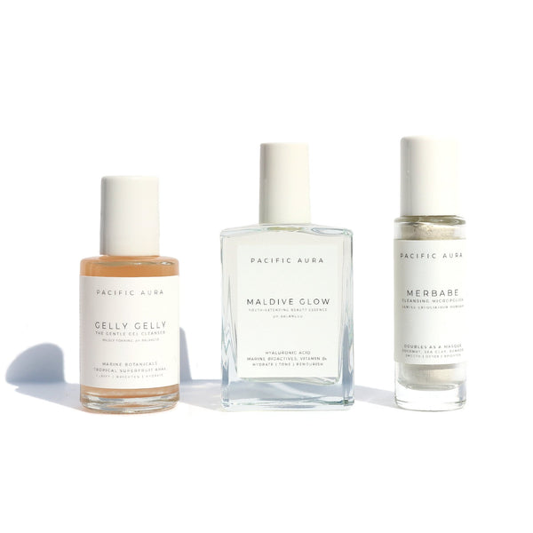 refillable, vegan, Clean Beauty Mini Set: cruelty-free skincare mini sizes