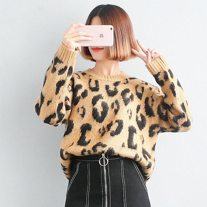 Leopard  Knitted Jumpers