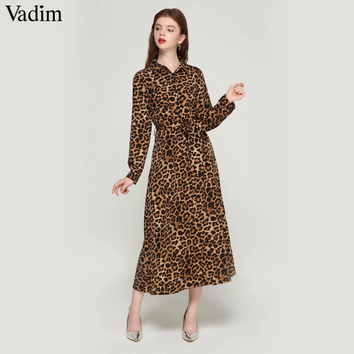 Leopard Retro Chic Dress