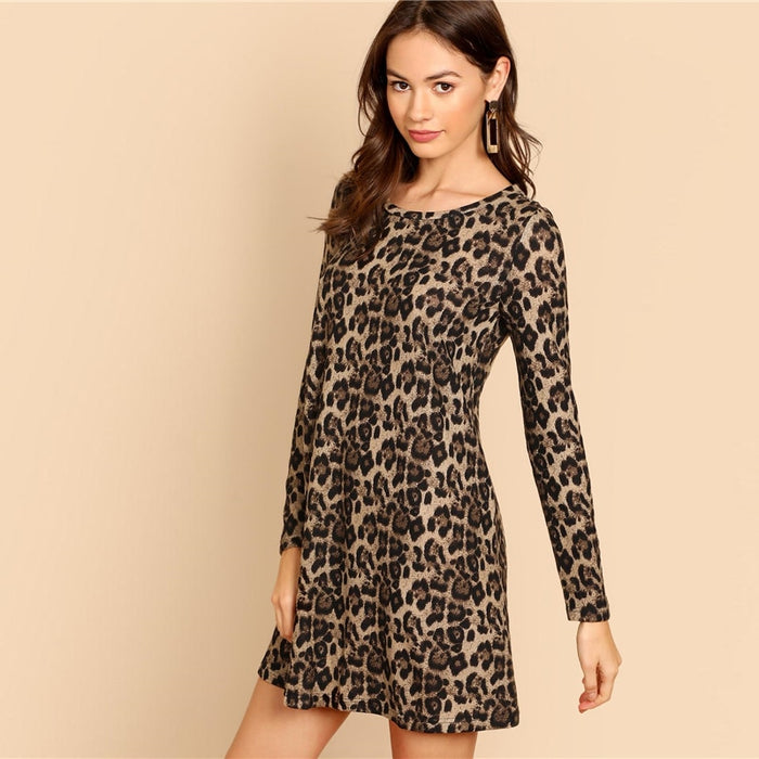 Leopard Long Sleeve Dress