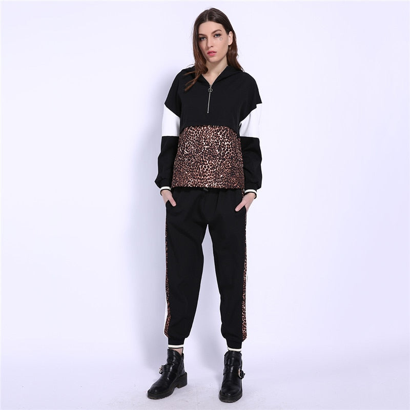 2 Pieces Sets Leopard Outfit