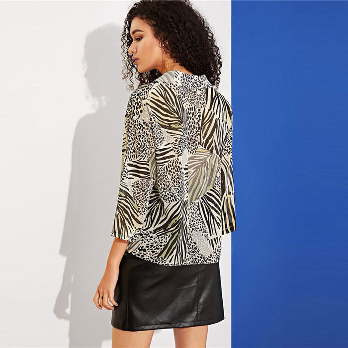Leopard And Zebra Blouse