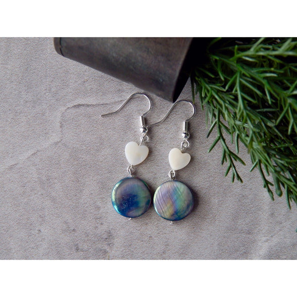 Rainbow River Shell Earrings