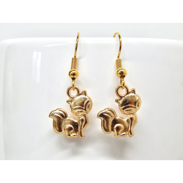 Gold Fox Earrings