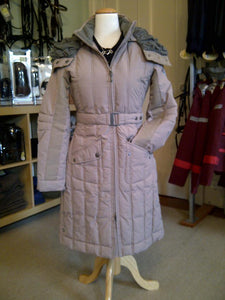 ANKY technical solutions long jacket for fashionable equestrians on the go. Horseback riding jacket with stripes.