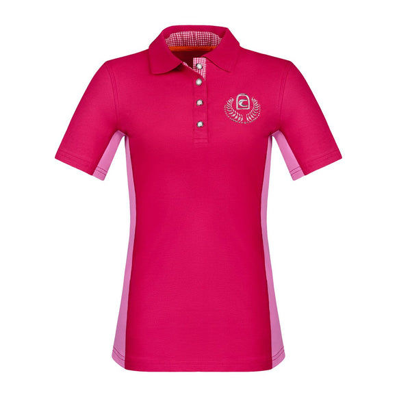 This short sleeve horseback riding shirt is great for all stylish equestrians. This polo by Cavallo is gorgeous.