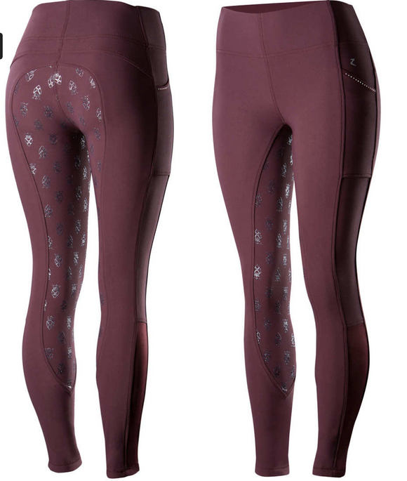 Horze Leah silicone tight horseback riding pants for fashionable equestrians.