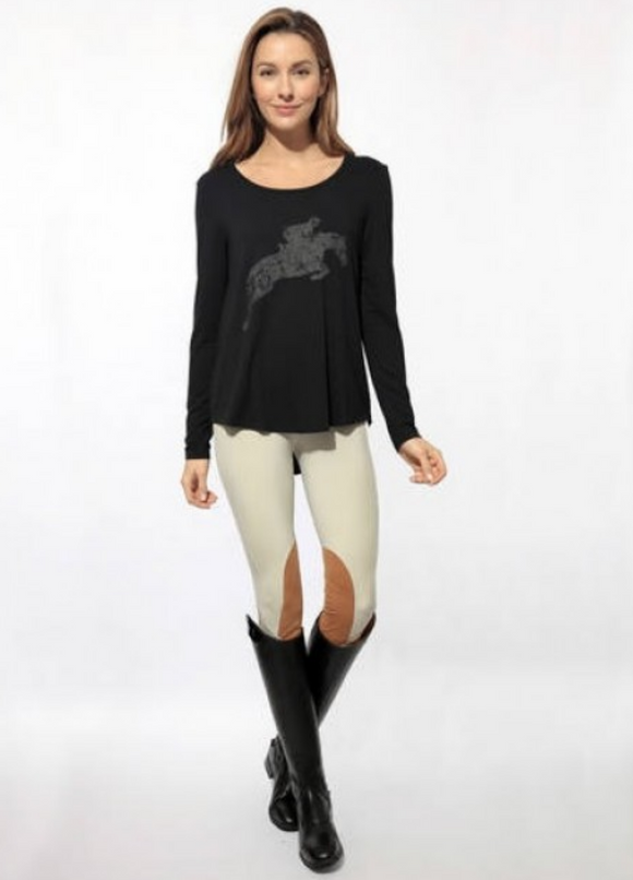 The Chestnut Bay long sleeve horseback riding shirt for stylish equestrians.