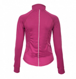 Horze Andie 1/4 zip long sleeve horseback riding shirt.