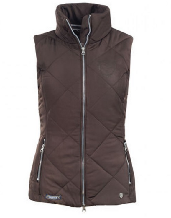 The Horze Christa vest for horseback riding. This fashionable horseback riding vest is the perfect riding vest.