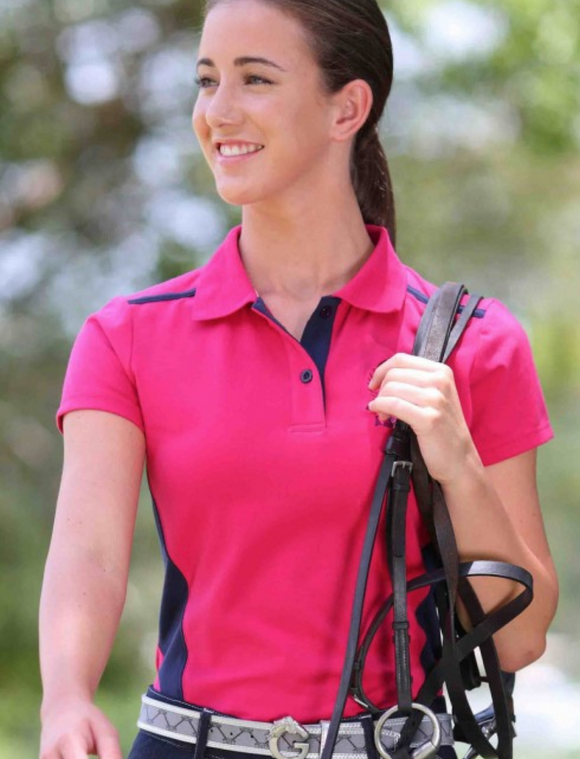 The polo shirt for horseback riding and stylish equestrians.