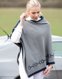Equetech horseback riding poncho for the stylish equestrian on the go.