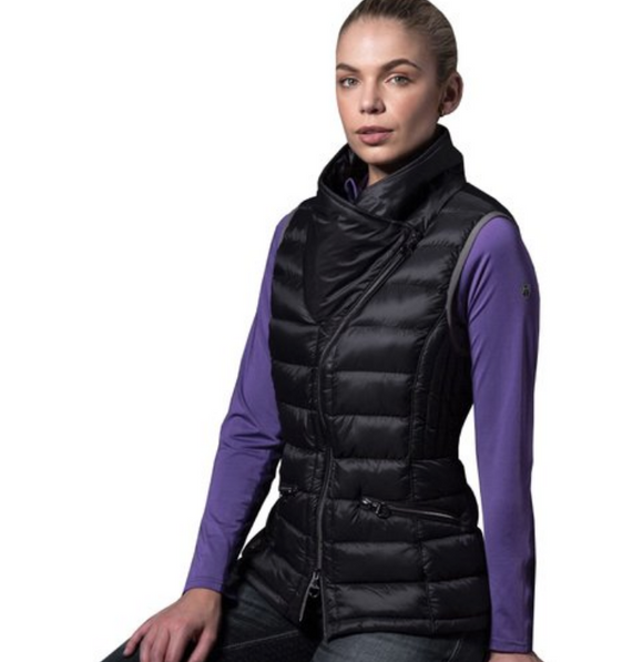 Equetech horseback riding vest for stylish equestrians. This gear for horseback riders is gorgeous and warm for winter riding.