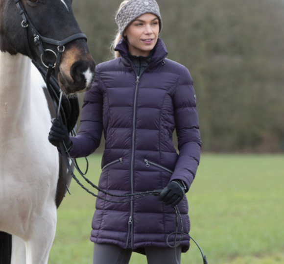 Equetech Lexi long jacket for horseback riding. This winter horseback riding jacket is perfect for all stylish equestrians.