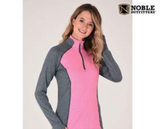 Noble Outfitters Athena long sleeve quarter zip for the fashionable horseback rider. This is a great horseback riding shirt.