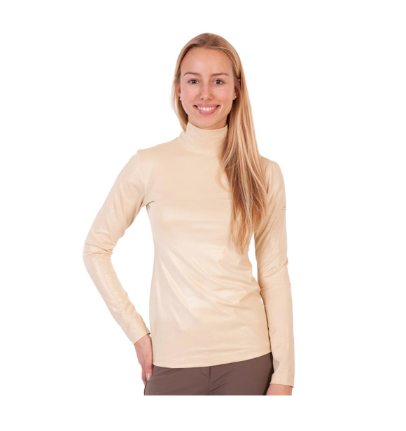 ANKY technical solutions ladies mock neck for the fashionable equestrian. Perfect for the horseback rider looking to stay warm at the barn.