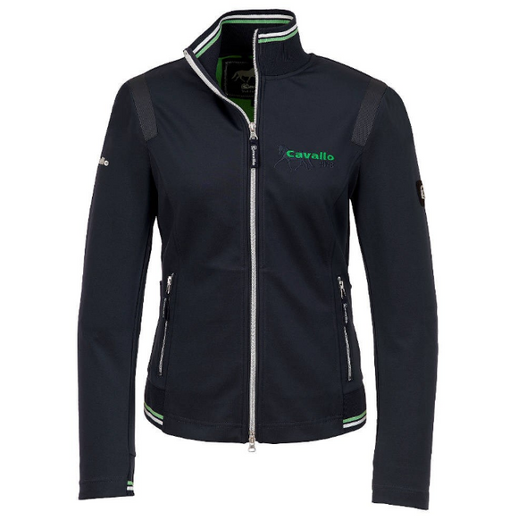 Cavallo international designs for fashionable equestrians. The barbara horseback riding sweater jacket is stylish, comfortable and waterproof.
