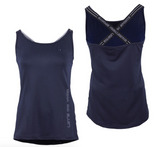 QHP Gigi horseback riding tank-top for the fashionable equestrian. This is a great horseback riding shirt for summer riding.