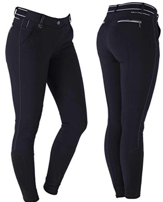QHP Megan horseback riding pants for the fashionable equestrian. These horseback riding pants are perfect for fall and winter horseback riding.