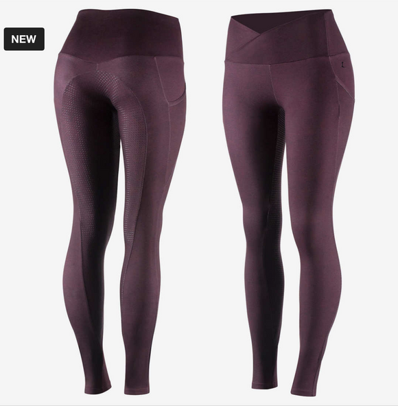 Horze Leigh silicone tights for horseback riding. These are great horseback riding pants for everyday riding.
