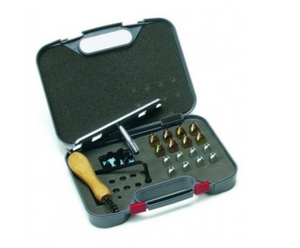 Stud kit for the horseback rider. Stud box for horse grooming and riding.