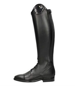 The Petrie Luca boots in black for stylish equestrians. This boot is a great everyday riding boot for all horseback riders.