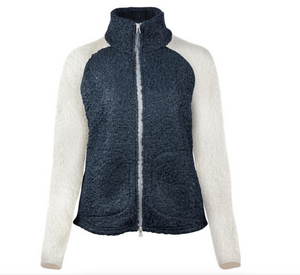 Horze Alice fur fleece jacket for horseback riding and the stylish equestrian. This is a great jacket for the equestrian.