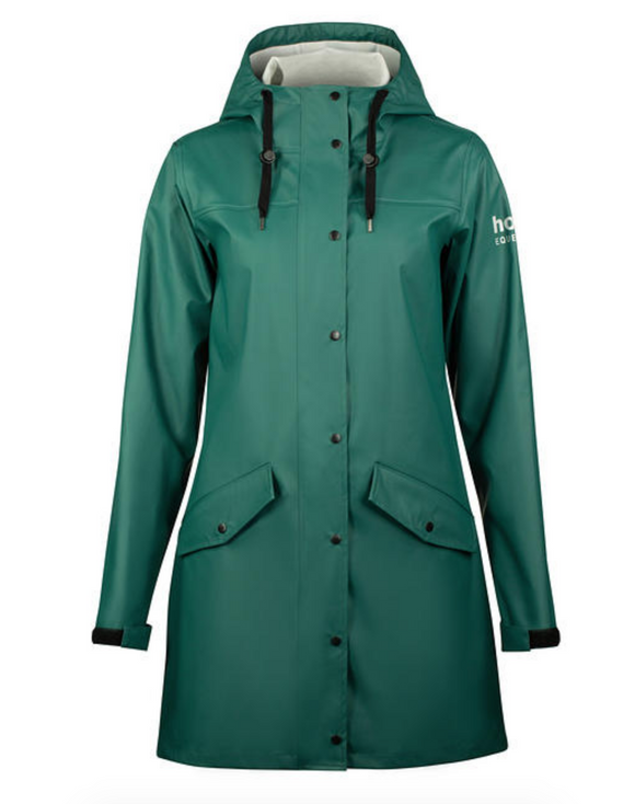 The ultimate horseback riding rain jacket for the fall and stylish equestrians.