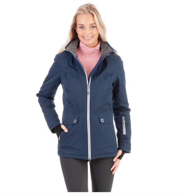 Anky Performance winter parka for the stylish equestrian. Winter horseback riding parka for the fashionable equestrian.