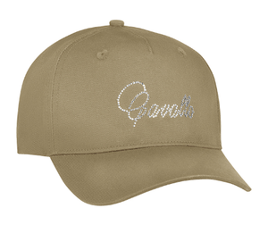 A beige cavallo hat for horseback riders. This equestrian baseball hat is perfect for all occasions.