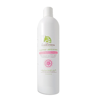 The ecolicious all natural product for grooming horses. Clipping awesome for aftercare.
