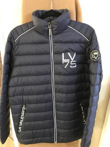 LV Justin padded bomber jacket for the down puffer coat for the male equestrian.