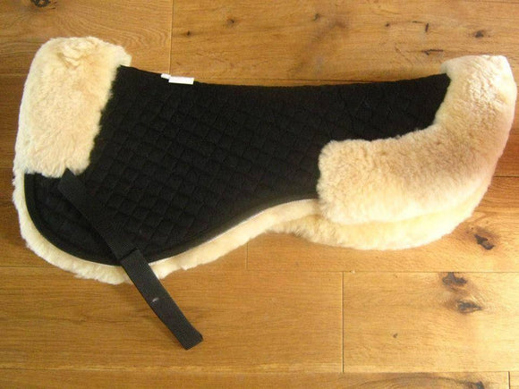 Real Sheepskin Half-Pad - Black