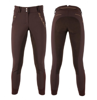 The QHP Liz full-seat breeches for the fashion-forward equestrian. With beautiful pocket detailing on both front and back pockets, these breeches will definitely turn a few heads at the barn!