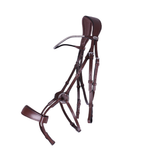 This bridle is specially designed to avoid the nerves on the horse's head and to distribute the pressure evenly.