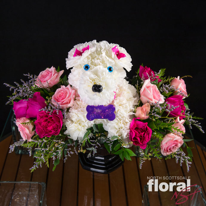 Charming Floral Poodle - 15% of Proceeds to Diane's Cancer Fund