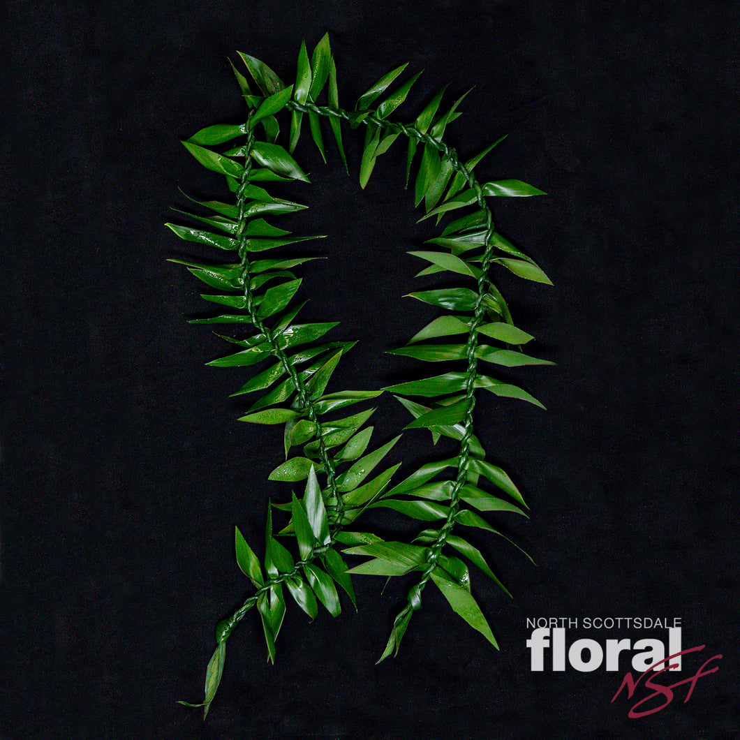 Double Maile Ti Leaf Lei