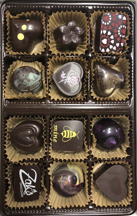Zak's Local Artisanal Chocolate - 12 Piece Box - North Scottsdale Floral