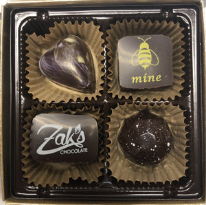 Zak's Local Artisanal Chocolate - 4 Piece Box - North Scottsdale Floral