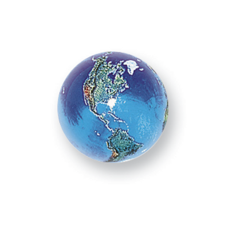 "1/2"" Natural Earth Marble, Pack of 5"