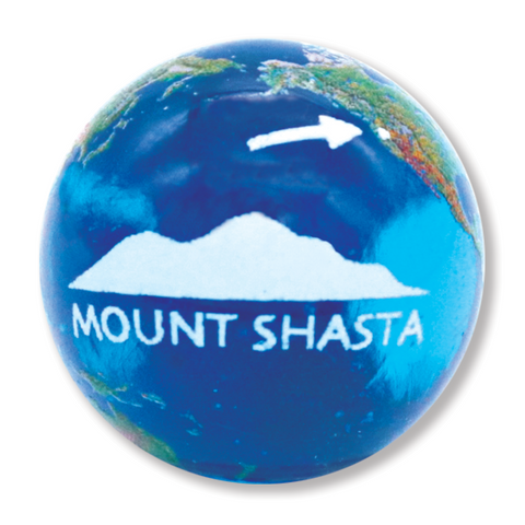 "1"" Natural Earth Marble With Mount Shasta, 3 In A Pouch"