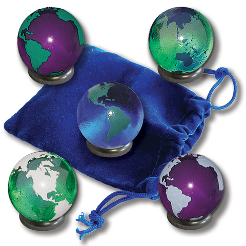 "1"" Colorful Earth Marble Set"