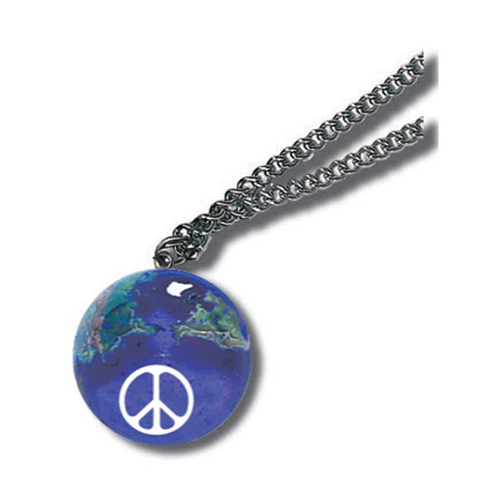 "1"" Peace Sign Natural Earth Necklace"