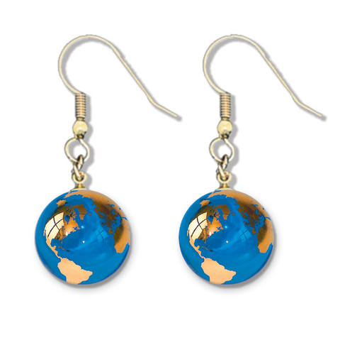 "1/2"" Golden Earth Earrings"